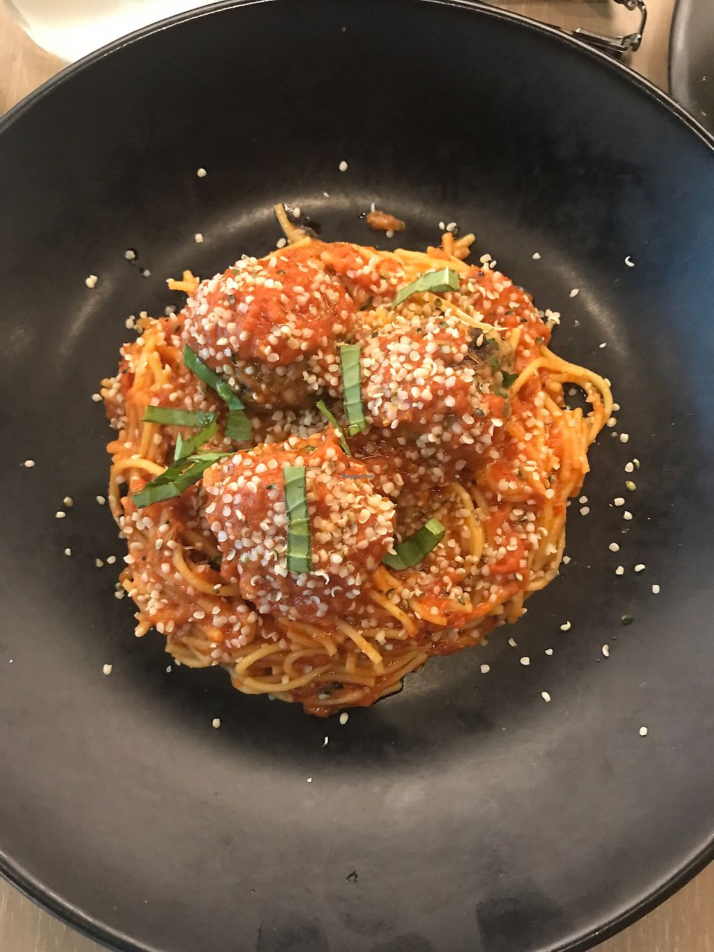 "Photo of GLAM Vegan  by <a href=""/members/profile/reburgan"">reburgan</a> <br/>Spaghetti and Bean Balls.   <br/> July 5, 2017  - <a href='/contact/abuse/image/95253/276958'>Report</a>"