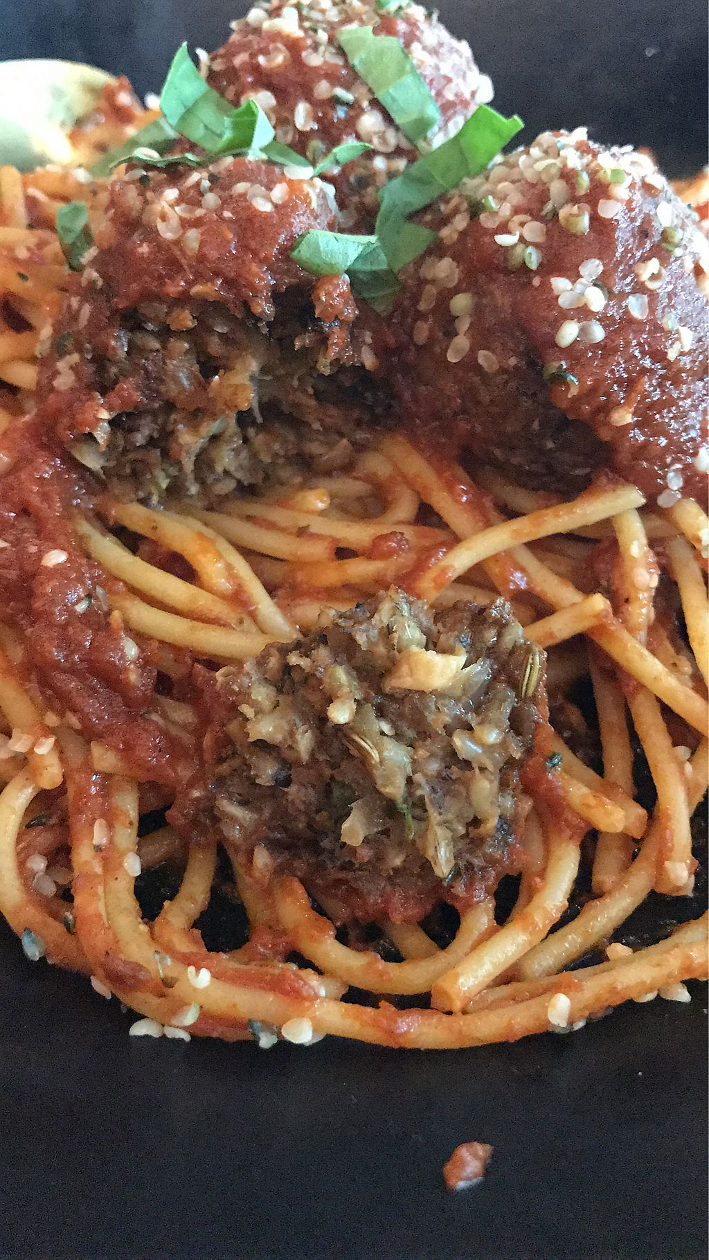 "Photo of GLAM Vegan  by <a href=""/members/profile/chivvy"">chivvy</a> <br/>meatless meatballs and spaghetti  <br/> August 26, 2017  - <a href='/contact/abuse/image/95253/297464'>Report</a>"