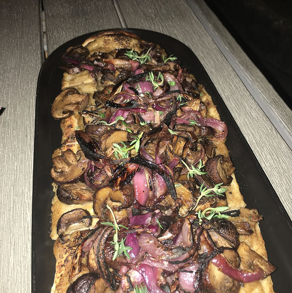 "Photo of GLAM Vegan  by <a href=""/members/profile/GabbieCure"">GabbieCure</a> <br/>mushroom flatbread <br/> November 15, 2017  - <a href='/contact/abuse/image/95253/325833'>Report</a>"