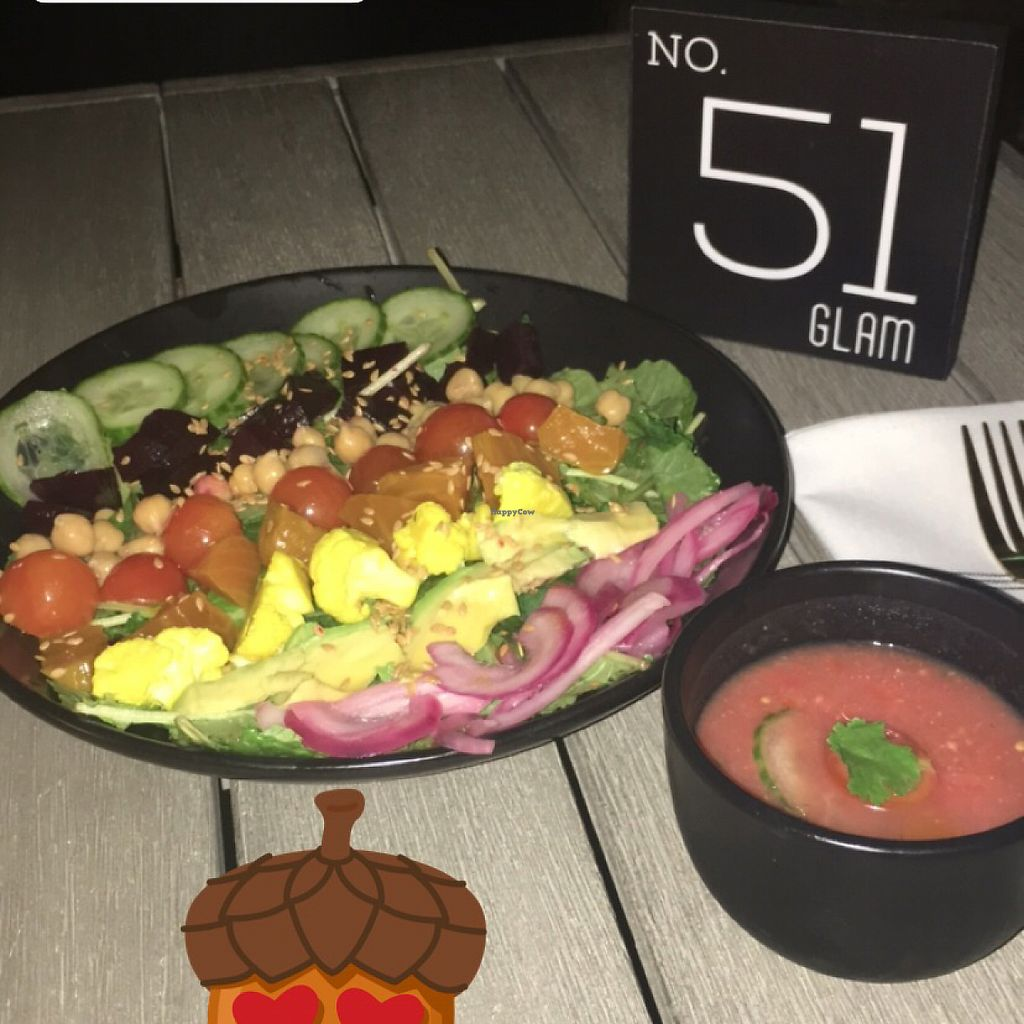 "Photo of GLAM Vegan  by <a href=""/members/profile/GabbieCure"">GabbieCure</a> <br/>kale bowl and gazpacho soup <br/> November 15, 2017  - <a href='/contact/abuse/image/95253/325834'>Report</a>"
