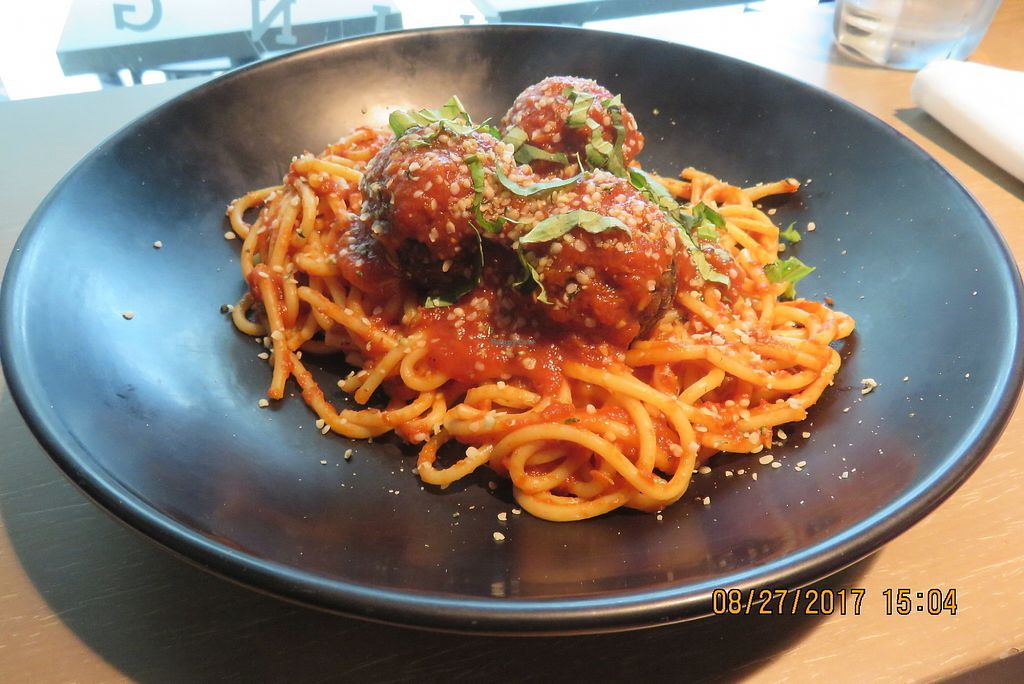 "Photo of GLAM Vegan  by <a href=""/members/profile/tracyrocks"">tracyrocks</a> <br/>spaghetti with meatballs <br/> January 6, 2018  - <a href='/contact/abuse/image/95253/343406'>Report</a>"