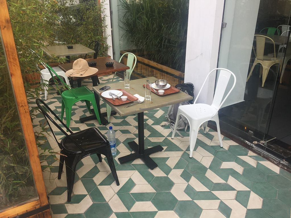 """Photo of Veggie  by <a href=""""/members/profile/Alena"""">Alena</a> <br/>Seating outside <br/> August 19, 2017  - <a href='/contact/abuse/image/95282/294416'>Report</a>"""