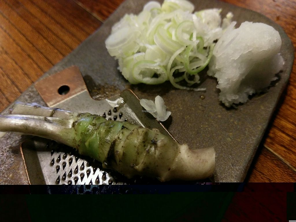 "Photo of Kobayashi Soba  by <a href=""/members/profile/pmaunder"">pmaunder</a> <br/>DIY wasabi, horseradish & green onion <br/> October 24, 2017  - <a href='/contact/abuse/image/95329/318303'>Report</a>"