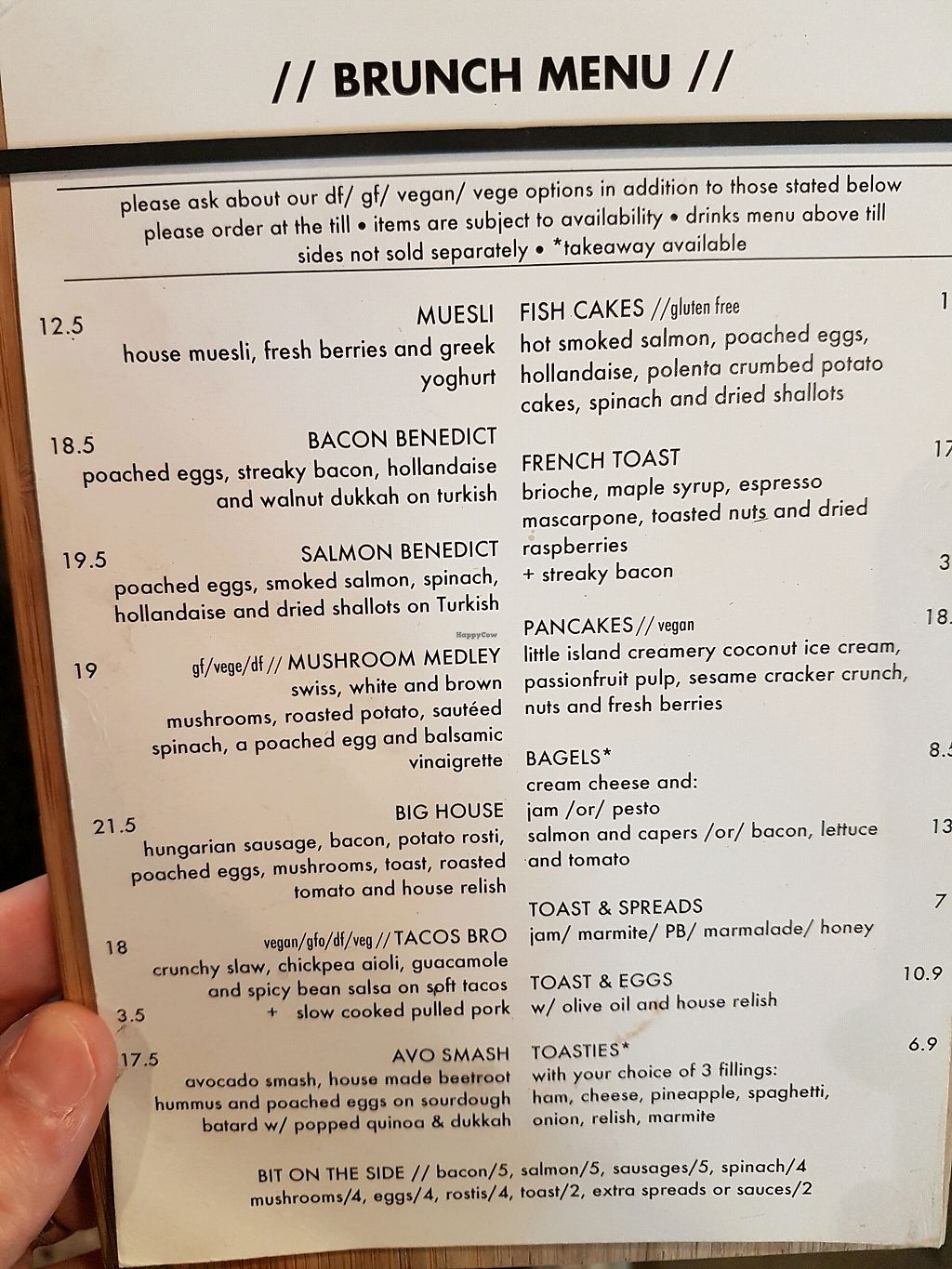 "Photo of Addington Coffee Co-op  by <a href=""/members/profile/RyanKP"">RyanKP</a> <br/>Brunch menu <br/> January 8, 2018  - <a href='/contact/abuse/image/95419/344509'>Report</a>"
