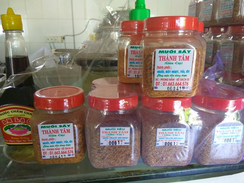 """Photo of Nhu Y  by <a href=""""/members/profile/MrGee"""">MrGee</a> <br/>some vegan spices for sale: looks like the ingredients translate as Salt, flour, sugar, garlic, and chili <br/> July 5, 2017  - <a href='/contact/abuse/image/95435/276994'>Report</a>"""