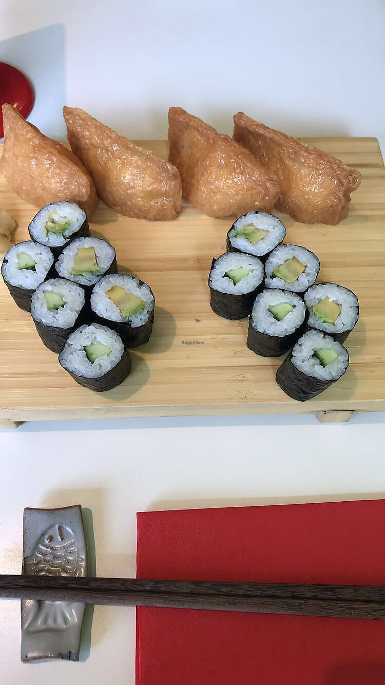 """Photo of Michie Sushi - Dun Laoghaire  by <a href=""""/members/profile/EricHutchinson"""">EricHutchinson</a> <br/>vegetarian option, swapped omelette for two extra tofu <br/> July 19, 2017  - <a href='/contact/abuse/image/95458/282071'>Report</a>"""
