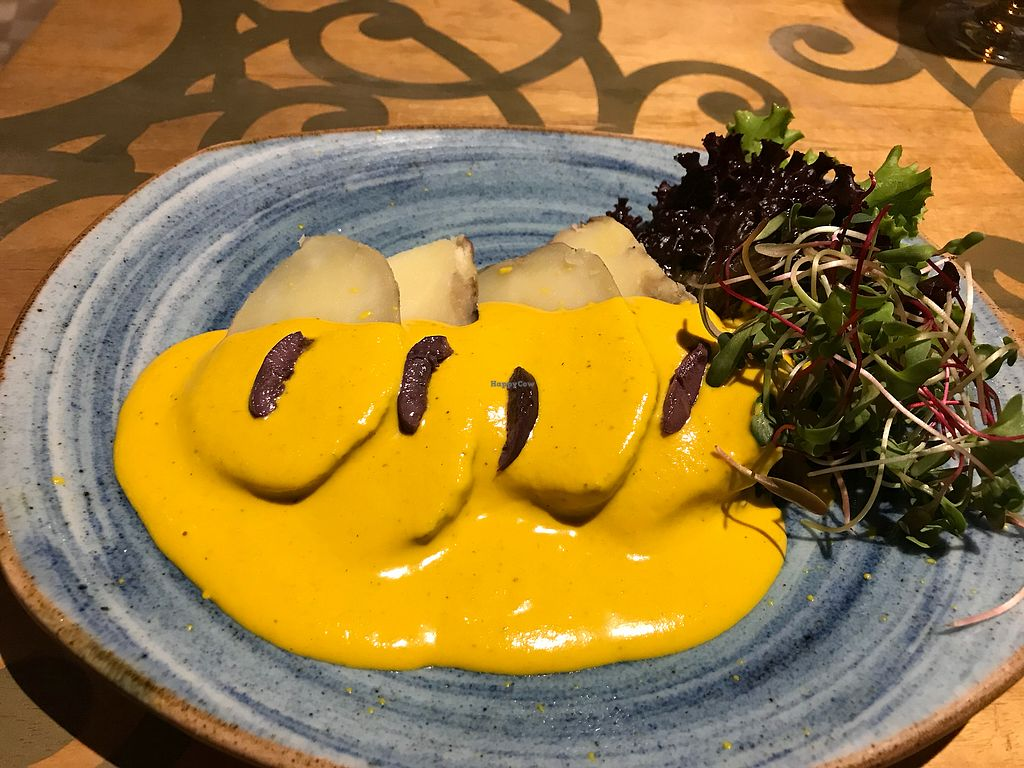 "Photo of Veda Restaurante  by <a href=""/members/profile/Vegan%20Vagabond"">Vegan Vagabond</a> <br/>Papas a la huancaina  <br/> December 30, 2017  - <a href='/contact/abuse/image/95473/341004'>Report</a>"