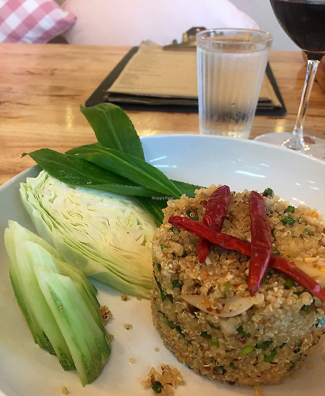 "Photo of Hua Hin Vegan Cafe and Wine  by <a href=""/members/profile/Seb33"">Seb33</a> <br/>Larb Quinoa <br/> July 10, 2017  - <a href='/contact/abuse/image/95513/278754'>Report</a>"
