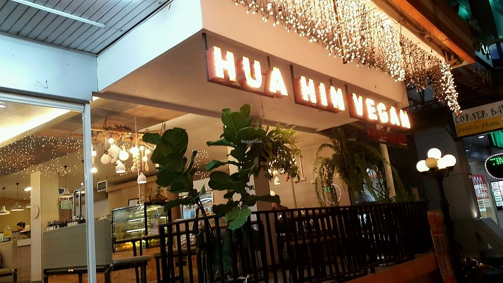 "Photo of Hua Hin Vegan Cafe and Wine  by <a href=""/members/profile/baz269"">baz269</a> <br/>exterior of cafe <br/> September 11, 2017  - <a href='/contact/abuse/image/95513/303265'>Report</a>"