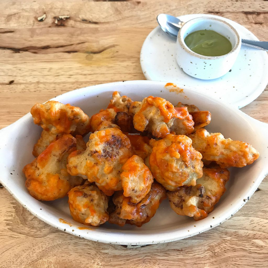"Photo of Hua Hin Vegan Cafe and Wine  by <a href=""/members/profile/earthville"">earthville</a> <br/>Cauliflower wings <br/> December 18, 2017  - <a href='/contact/abuse/image/95513/336736'>Report</a>"