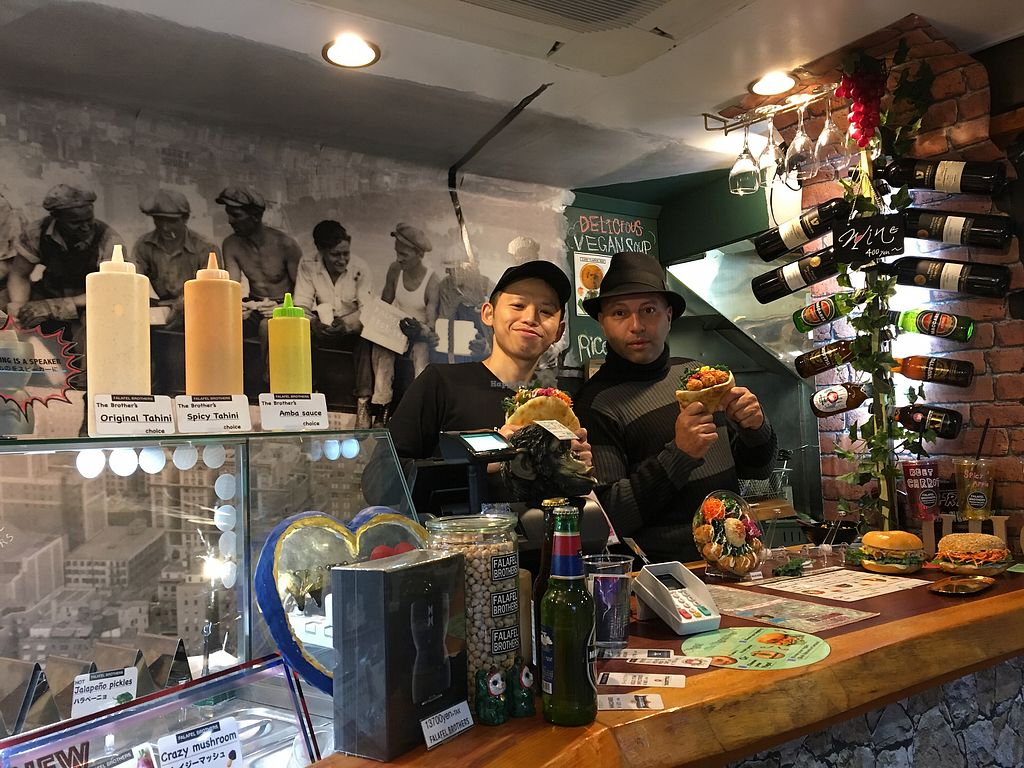 "Photo of Falafel Brothers  by <a href=""/members/profile/paulkates"">paulkates</a> <br/>Daisuke and Amnon providing awesome, personable service! <br/> November 11, 2017  - <a href='/contact/abuse/image/95517/324154'>Report</a>"