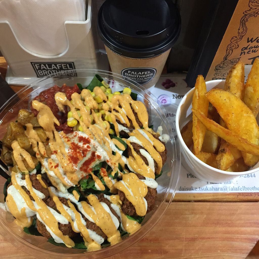 "Photo of Falafel Brothers  by <a href=""/members/profile/veggiefoodie"">veggiefoodie</a> <br/>falafel bowl <br/> January 4, 2018  - <a href='/contact/abuse/image/95517/342859'>Report</a>"