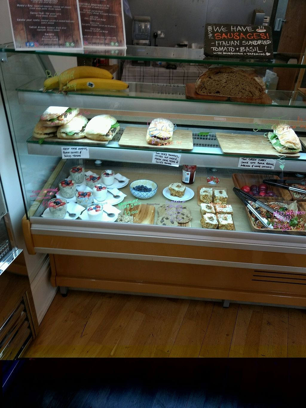 """Photo of Camber Coffee  by <a href=""""/members/profile/craigmc"""">craigmc</a> <br/>deli counter, all sandwiches vegan <br/> August 22, 2017  - <a href='/contact/abuse/image/95521/295626'>Report</a>"""