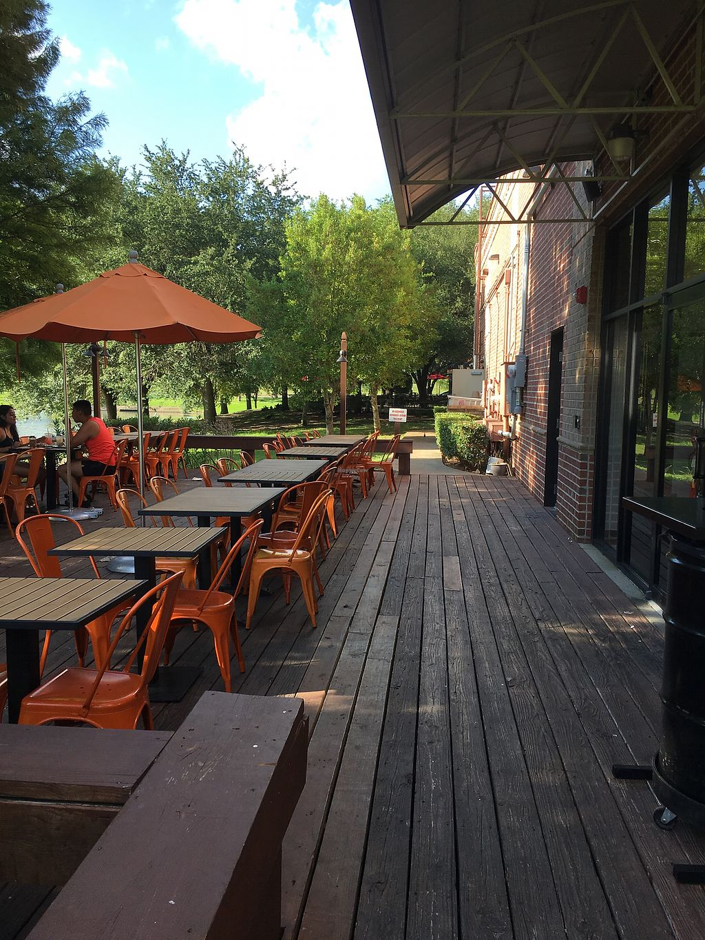 """Photo of Blaze Pizza  by <a href=""""/members/profile/teaisfortia"""">teaisfortia</a> <br/>back patio <br/> July 10, 2017  - <a href='/contact/abuse/image/95592/278544'>Report</a>"""