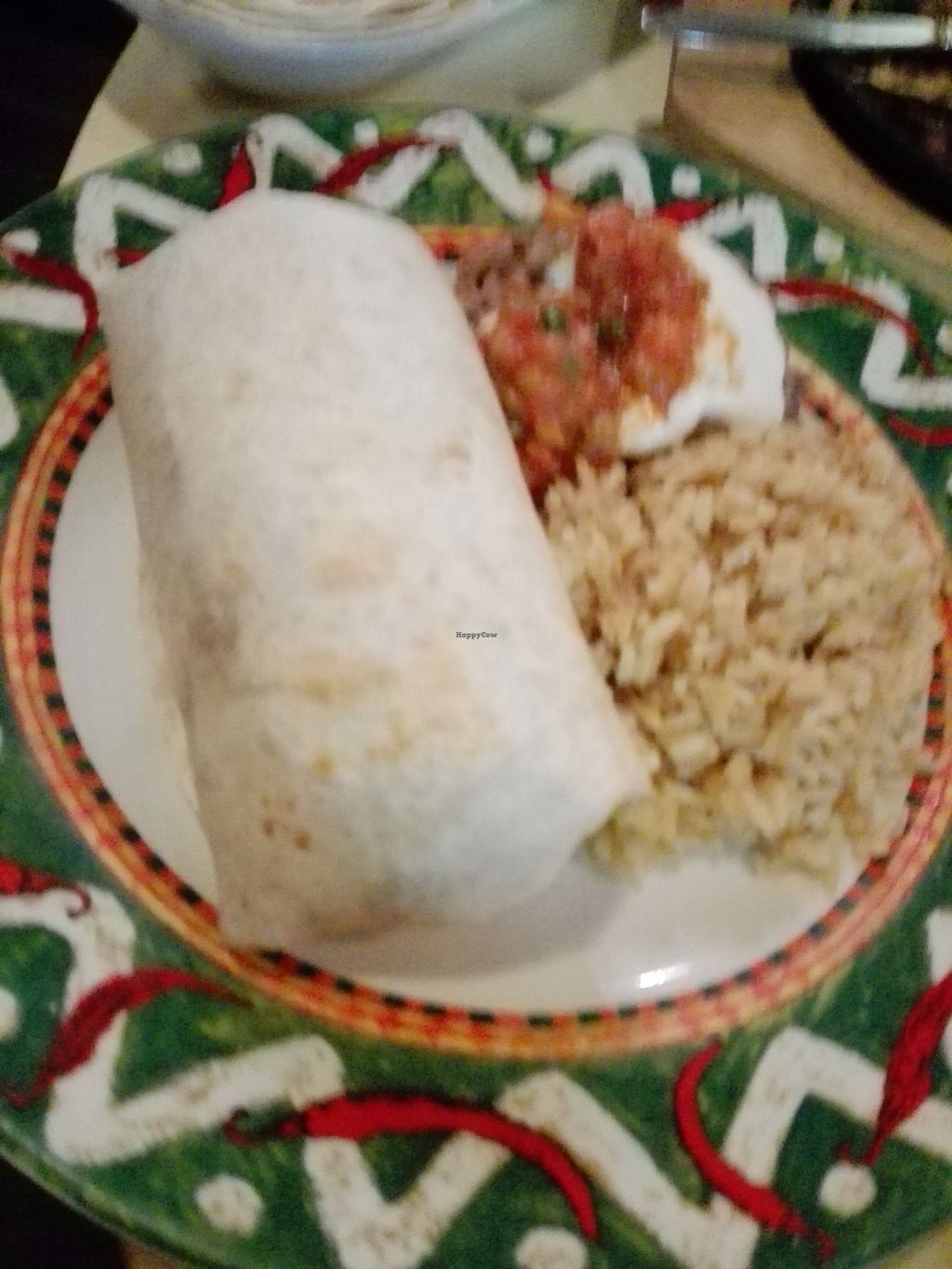 """Photo of Aztec  by <a href=""""/members/profile/ElisaGR"""">ElisaGR</a> <br/>Vegan Burrito <br/> October 31, 2017  - <a href='/contact/abuse/image/95599/320581'>Report</a>"""