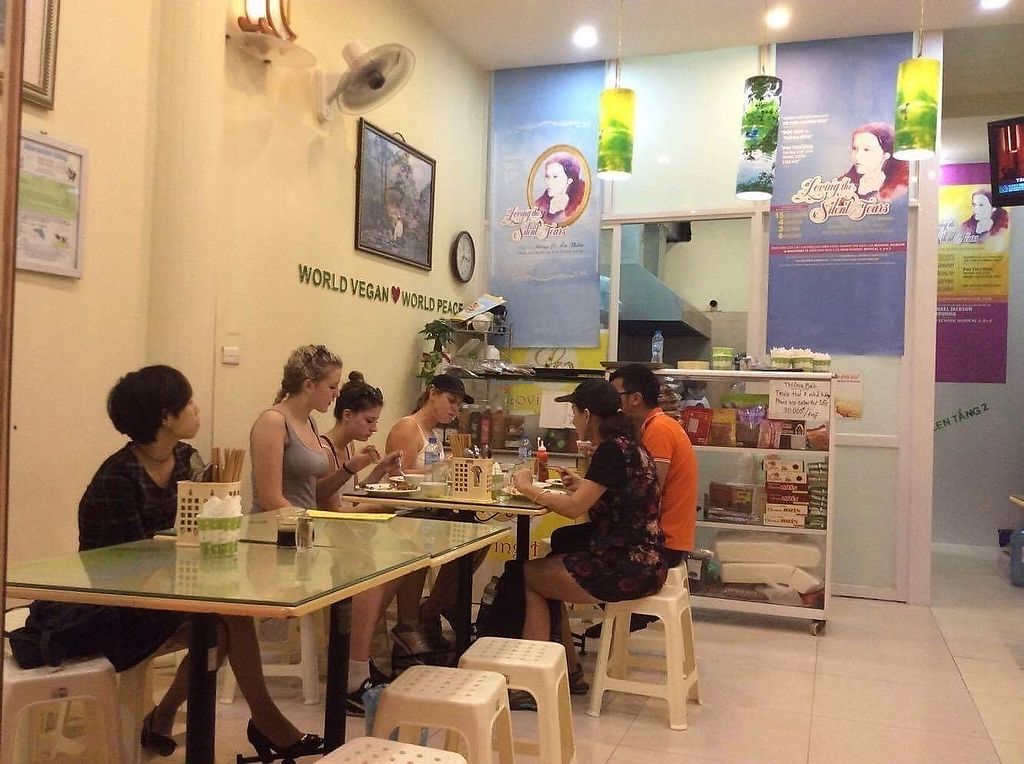 """Photo of Loving Hut - Hoa Binh  by <a href=""""/members/profile/Laura199x"""">Laura199x</a> <br/>lovely Customers <br/> September 15, 2017  - <a href='/contact/abuse/image/95604/304614'>Report</a>"""