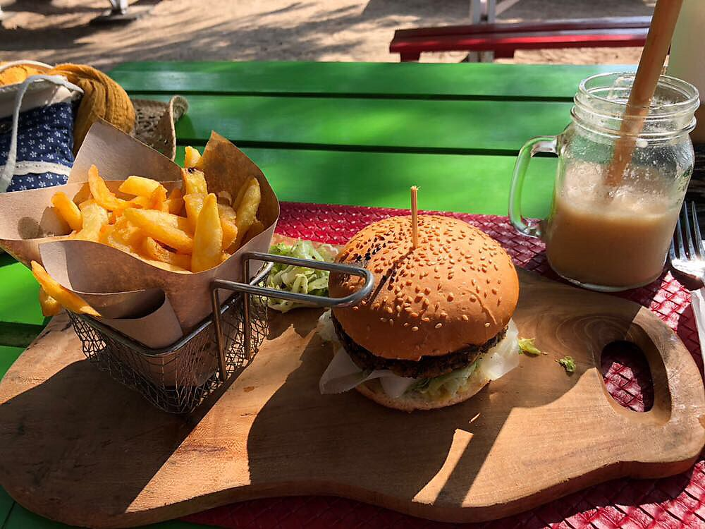 """Photo of Hungry Marlin Restaurant  by <a href=""""/members/profile/LaurieKing"""">LaurieKing</a> <br/>The hippy burger :) <br/> October 31, 2017  - <a href='/contact/abuse/image/95608/320323'>Report</a>"""