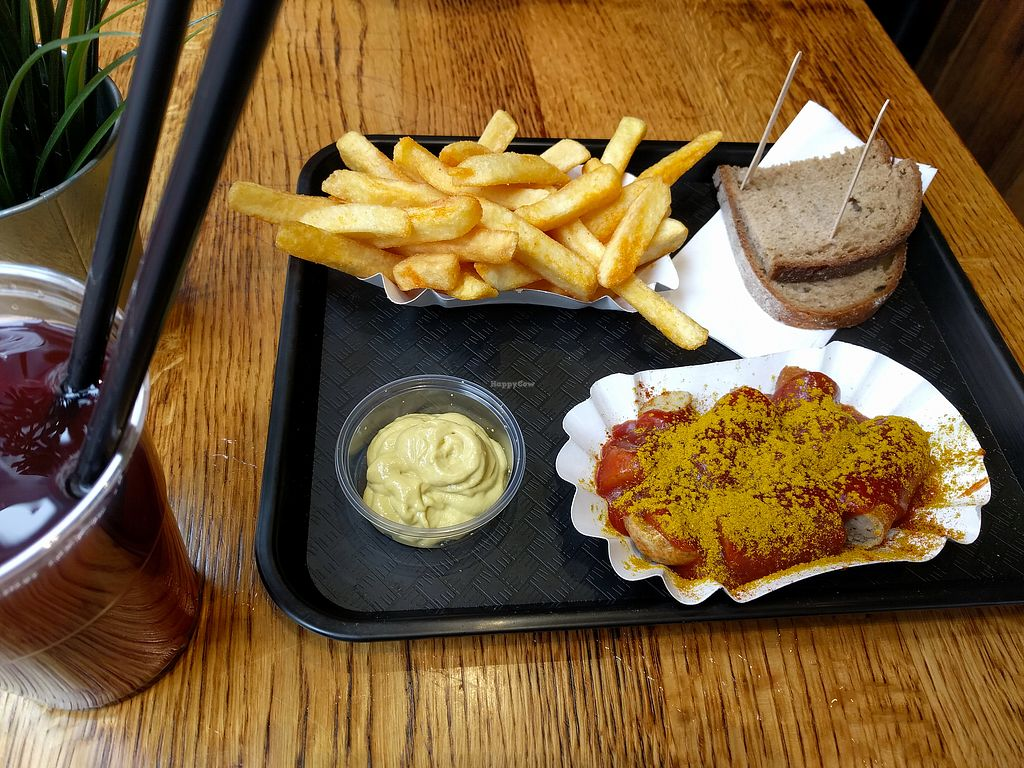 """Photo of My Currywurst  by <a href=""""/members/profile/N_i_na"""">N_i_na</a> <br/>Vegan Currywurst menu <br/> March 11, 2018  - <a href='/contact/abuse/image/95613/369346'>Report</a>"""