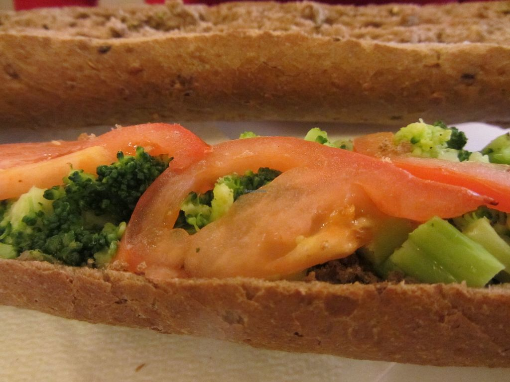 """Photo of Sense + Direct Beaulongerie  by <a href=""""/members/profile/VegiAnna"""">VegiAnna</a> <br/>vegan Baguette Provencal (with broccoli and tomatoes) <br/> July 16, 2017  - <a href='/contact/abuse/image/95614/280921'>Report</a>"""