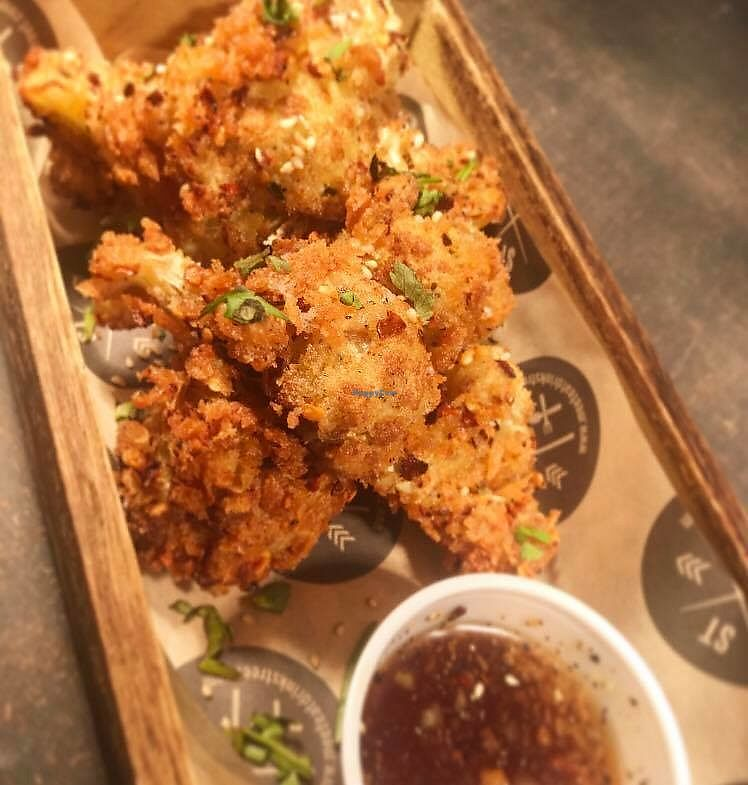 """Photo of STREET Tarporley  by <a href=""""/members/profile/community5"""">community5</a> <br/>Asian Chilli Cauliflower Wings with a Maple Soy and Ginger Dipping Sauce <br/> July 8, 2017  - <a href='/contact/abuse/image/95617/278018'>Report</a>"""