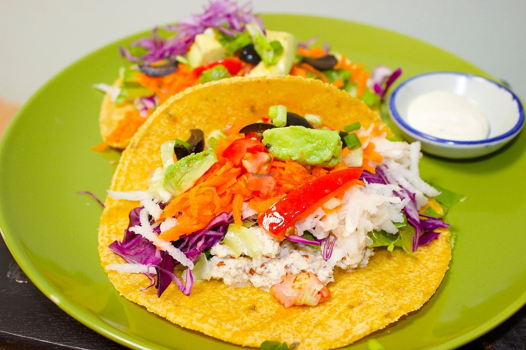 """Photo of Rawkin Cafe  by <a href=""""/members/profile/getjuicedforlife"""">getjuicedforlife</a> <br/>Raw taco's. Fill your tummy with absolute healthy goodness.  <br/> July 8, 2017  - <a href='/contact/abuse/image/95624/277749'>Report</a>"""