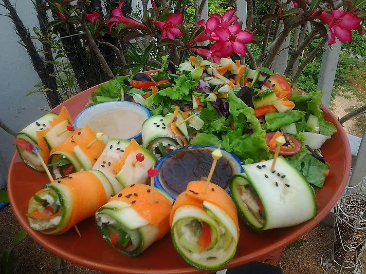 """Photo of Rawkin Cafe  by <a href=""""/members/profile/getjuicedforlife"""">getjuicedforlife</a> <br/>Delicious zucchini carrot wraps. This is heaven in your mouth <br/> July 8, 2017  - <a href='/contact/abuse/image/95624/277751'>Report</a>"""