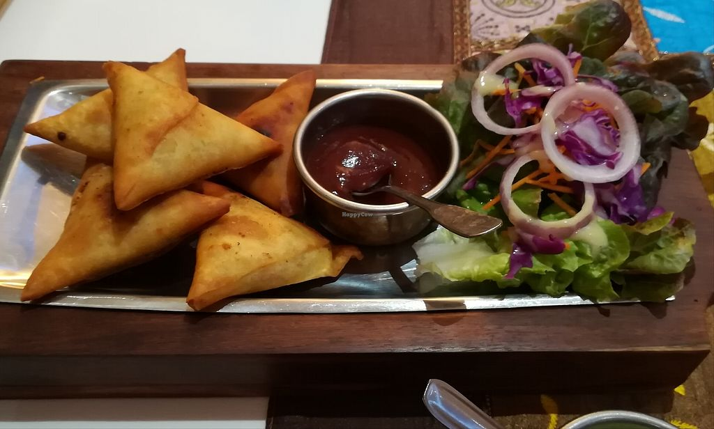 "Photo of Le Jaipur  by <a href=""/members/profile/Happy%20Caro"">Happy Caro</a> <br/>Veggie samosas <br/> July 10, 2017  - <a href='/contact/abuse/image/95640/278690'>Report</a>"