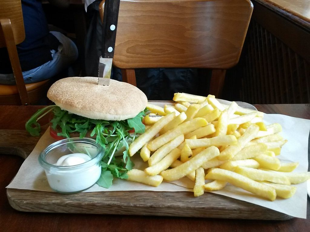 """Photo of Cafe Del Sol  by <a href=""""/members/profile/Gil"""">Gil</a> <br/>Burger with extra french fries <br/> July 7, 2017  - <a href='/contact/abuse/image/95641/277654'>Report</a>"""