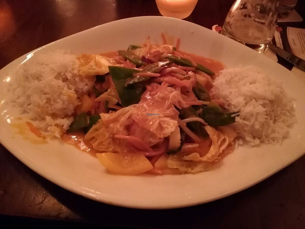 """Photo of Cafe Del Sol  by <a href=""""/members/profile/Mallorcatalks"""">Mallorcatalks</a> <br/>rotes Thai Curry  <br/> January 26, 2018  - <a href='/contact/abuse/image/95641/351188'>Report</a>"""