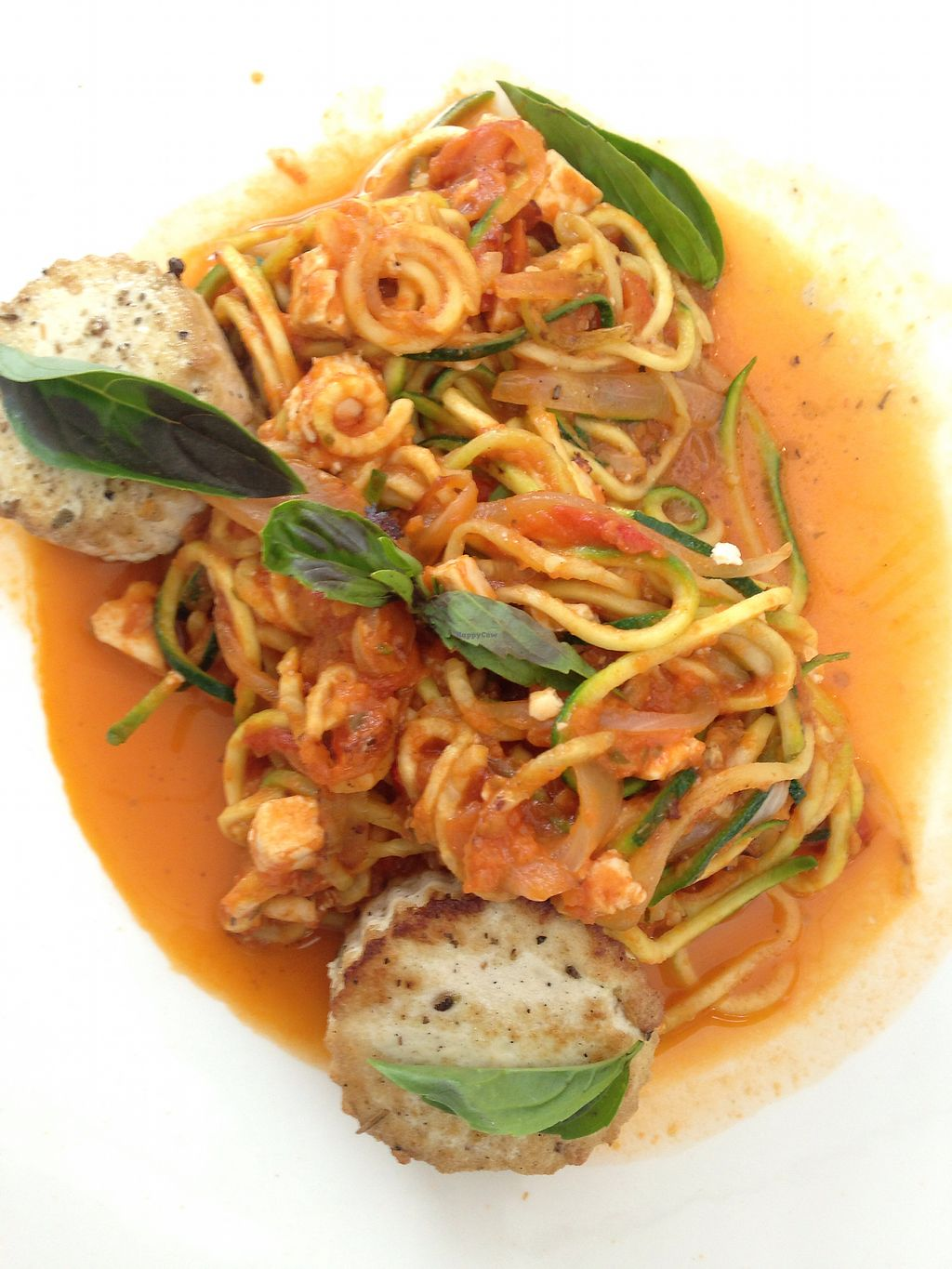 """Photo of The Grove  by <a href=""""/members/profile/asherduncan"""">asherduncan</a> <br/>Zoodles and tofu scallops  <br/> July 7, 2017  - <a href='/contact/abuse/image/95643/277590'>Report</a>"""