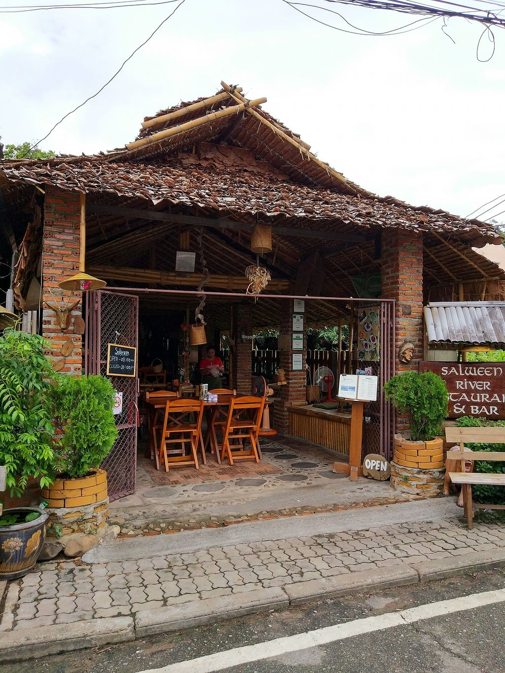 """Photo of Salween River Restaurant  by <a href=""""/members/profile/lovetheanimals"""">lovetheanimals</a> <br/>outside <br/> July 10, 2017  - <a href='/contact/abuse/image/95736/278799'>Report</a>"""