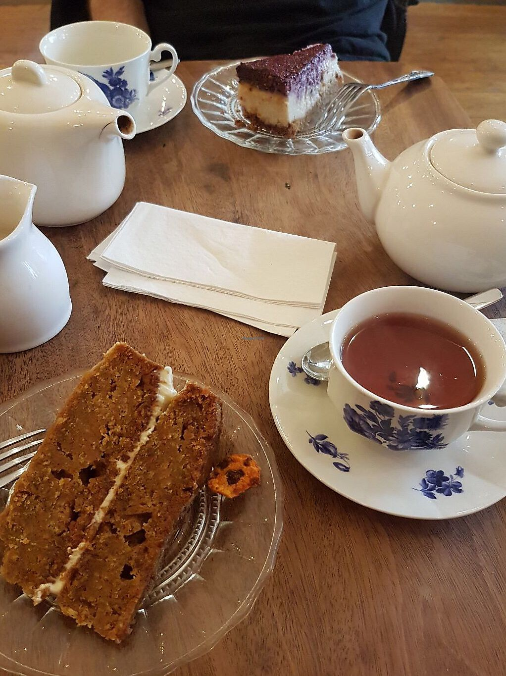 """Photo of Miranda Cafe  by <a href=""""/members/profile/lysi"""">lysi</a> <br/>Cake and tea - both gluten free & vegan  <br/> October 26, 2017  - <a href='/contact/abuse/image/95778/319128'>Report</a>"""