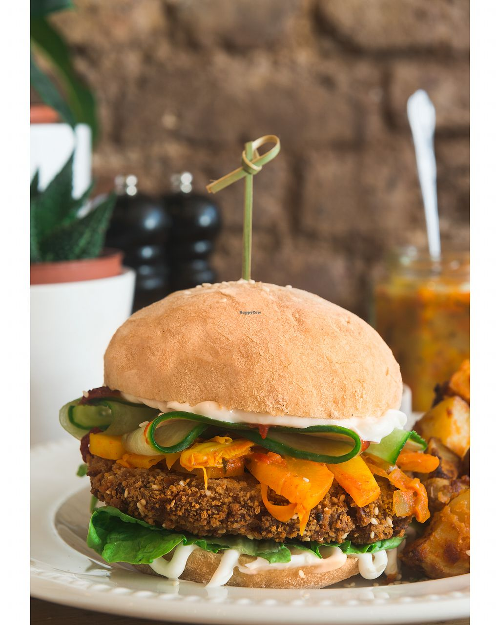 """Photo of Miranda Cafe  by <a href=""""/members/profile/GabrielJ.Diaz"""">GabrielJ.Diaz</a> <br/>NEW Korean style Vegan Kimchi Burger. Crispy burger with fresh lemongrass, mixed vegetables, coriander and chilli, coated with black onion and sesame, spicy kimchi cabbage pickle and gochujang chilli sauce ???? <br/> April 8, 2018  - <a href='/contact/abuse/image/95778/382288'>Report</a>"""