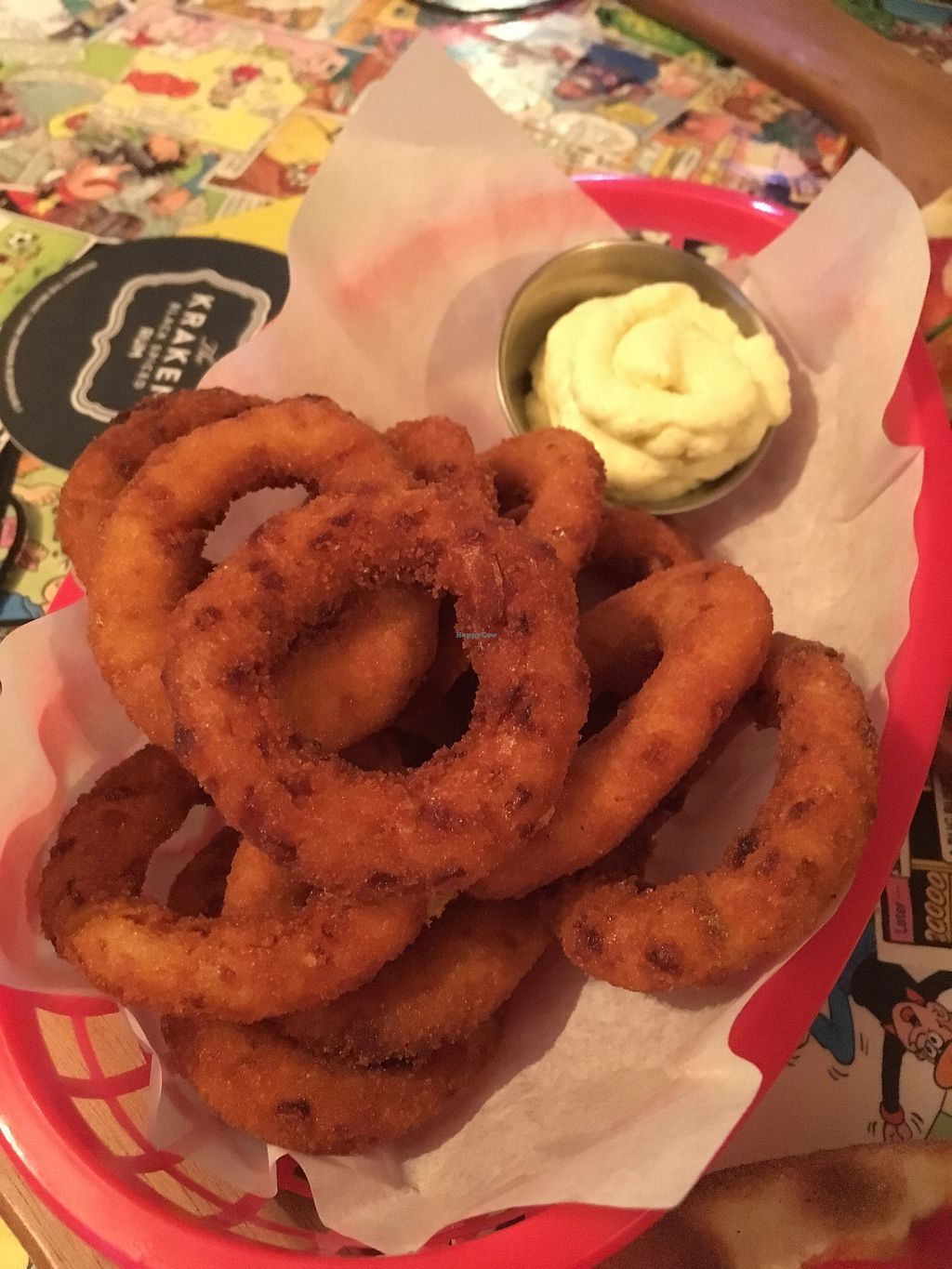 "Photo of Old Town House  by <a href=""/members/profile/vg-melling-92"">vg-melling-92</a> <br/>Crispy onion rings , vegan mayo  <br/> February 12, 2018  - <a href='/contact/abuse/image/95784/358546'>Report</a>"