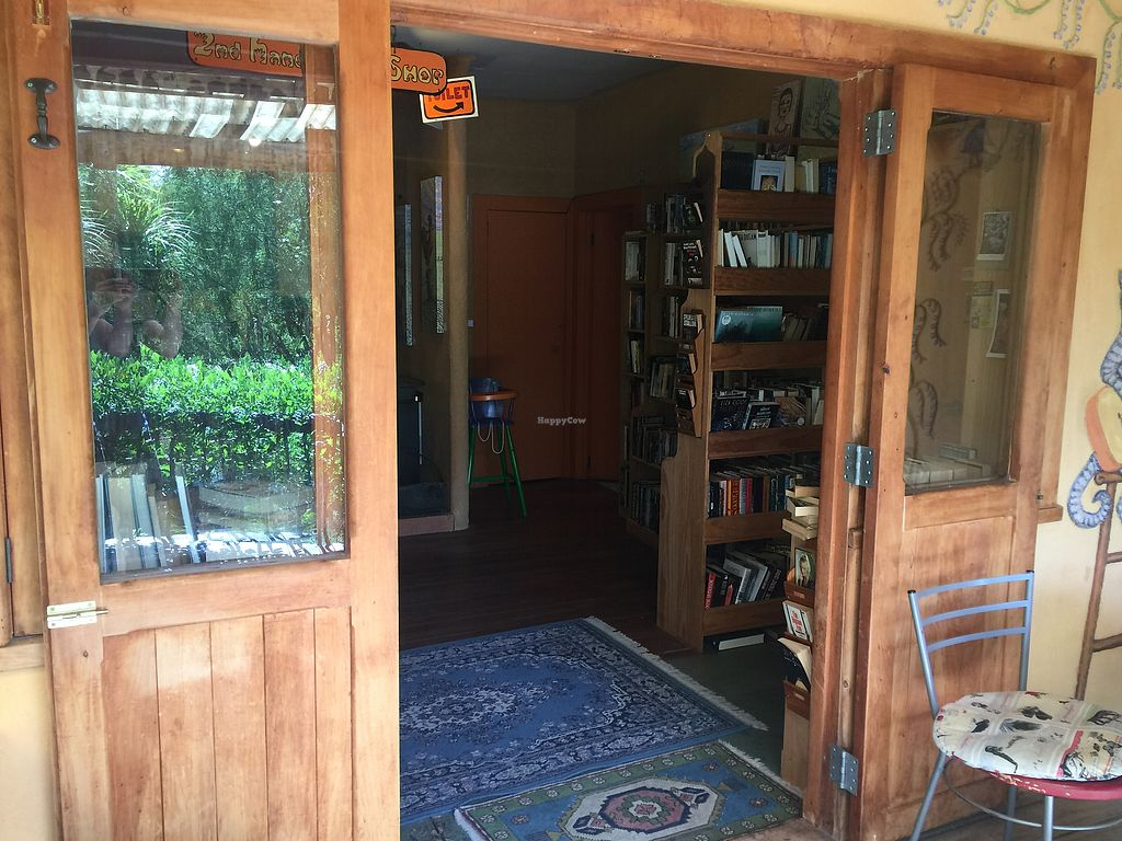"Photo of Driving Creek Cafe and Organics  by <a href=""/members/profile/Tiggy"">Tiggy</a> <br/>Entrance and bookshop <br/> December 31, 2017  - <a href='/contact/abuse/image/9581/341485'>Report</a>"