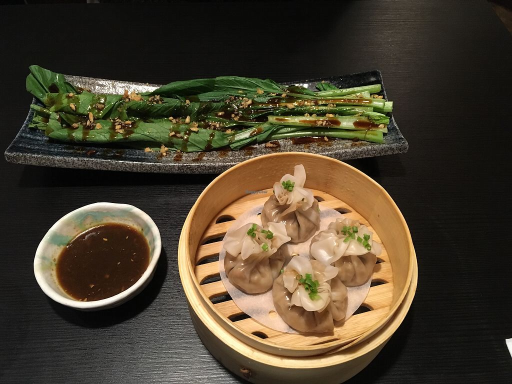 "Photo of Ichiza Kitchen & Tea House  by <a href=""/members/profile/DianeH"">DianeH</a> <br/>Seasonal brassica and Shumai <br/> December 2, 2017  - <a href='/contact/abuse/image/95823/331353'>Report</a>"