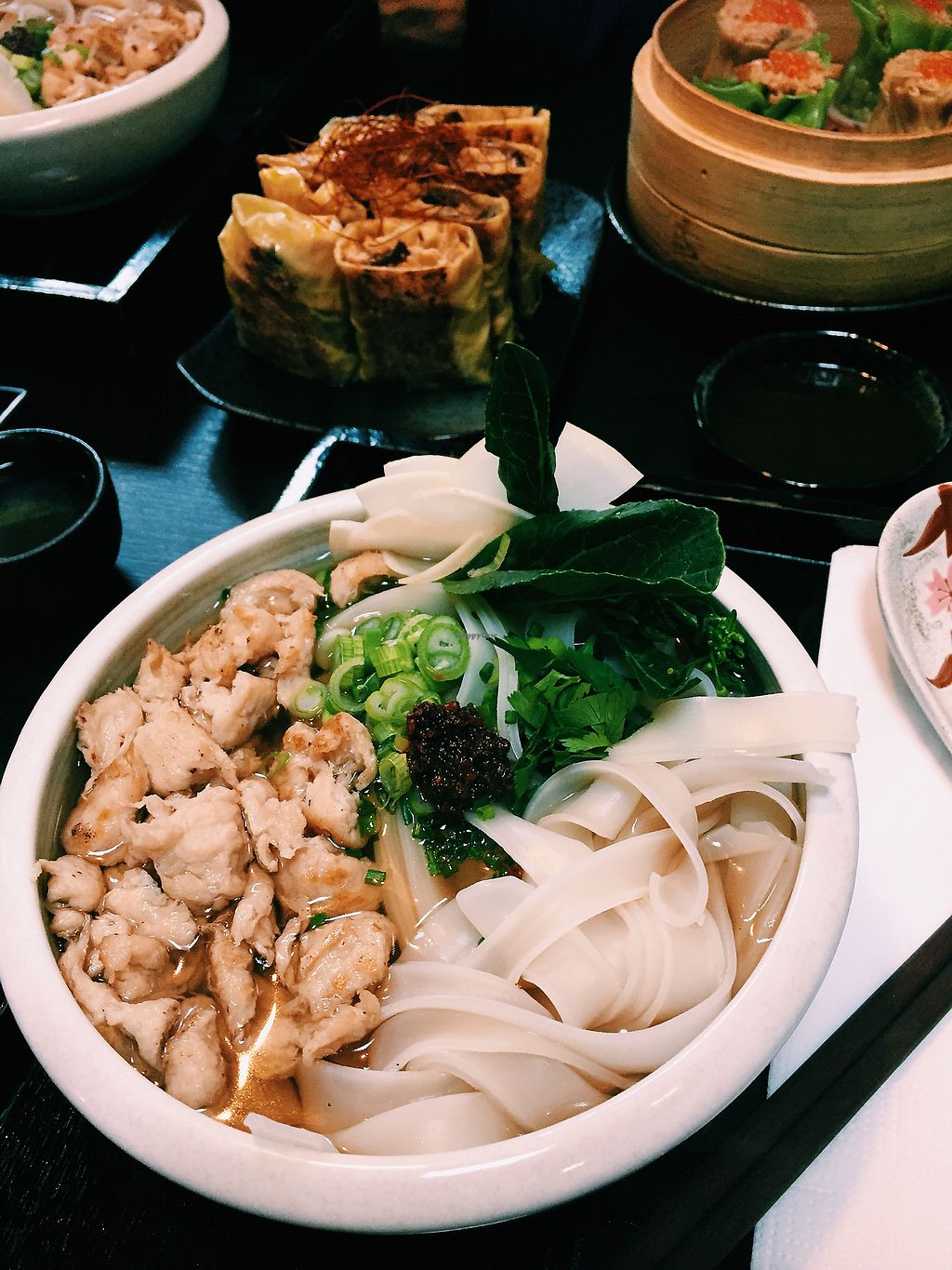 "Photo of Ichiza Kitchen & Tea House  by <a href=""/members/profile/ginaterrito"">ginaterrito</a> <br/>Shumai, bean curd skin and Ichiza noodle soup <br/> April 4, 2018  - <a href='/contact/abuse/image/95823/380850'>Report</a>"