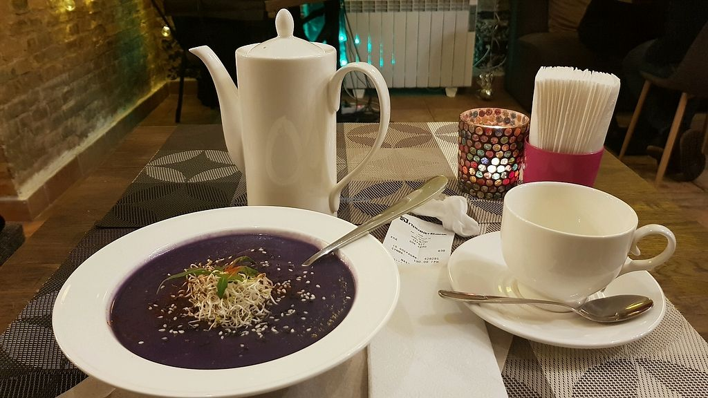 """Photo of Kolo  by <a href=""""/members/profile/OxyKop"""">OxyKop</a> <br/>vegan cream soup. Was good <br/> March 19, 2018  - <a href='/contact/abuse/image/95839/372770'>Report</a>"""