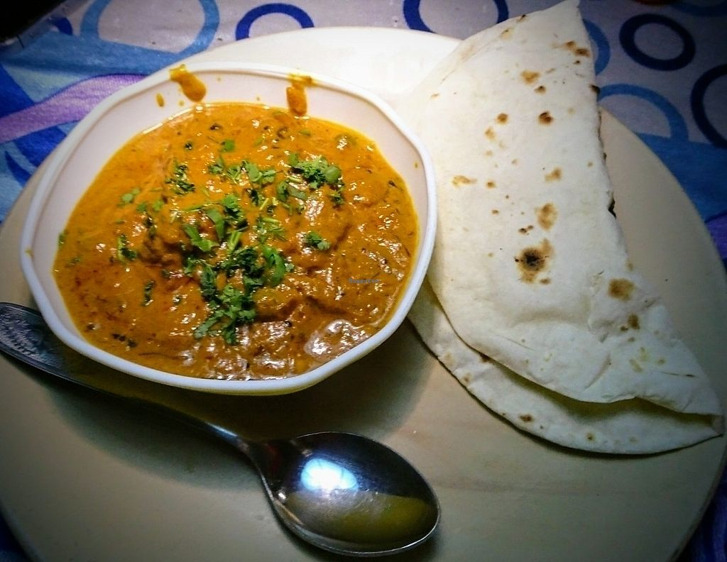 "Photo of Ever Green Cafe  by <a href=""/members/profile/backpacking_squirrel"">backpacking_squirrel</a> <br/>Vegetarian Curry with Chapatti <br/> July 19, 2017  - <a href='/contact/abuse/image/95849/282156'>Report</a>"