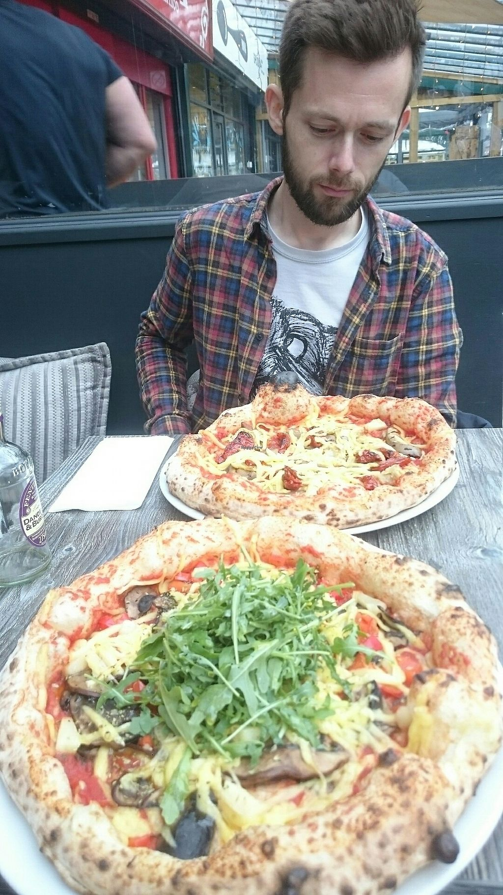 """Photo of Double Zero 00 Neapolitan Pizza  by <a href=""""/members/profile/veganfishcake"""">veganfishcake</a> <br/>Best vegan pizza in Manchester  <br/> August 5, 2017  - <a href='/contact/abuse/image/95851/289368'>Report</a>"""