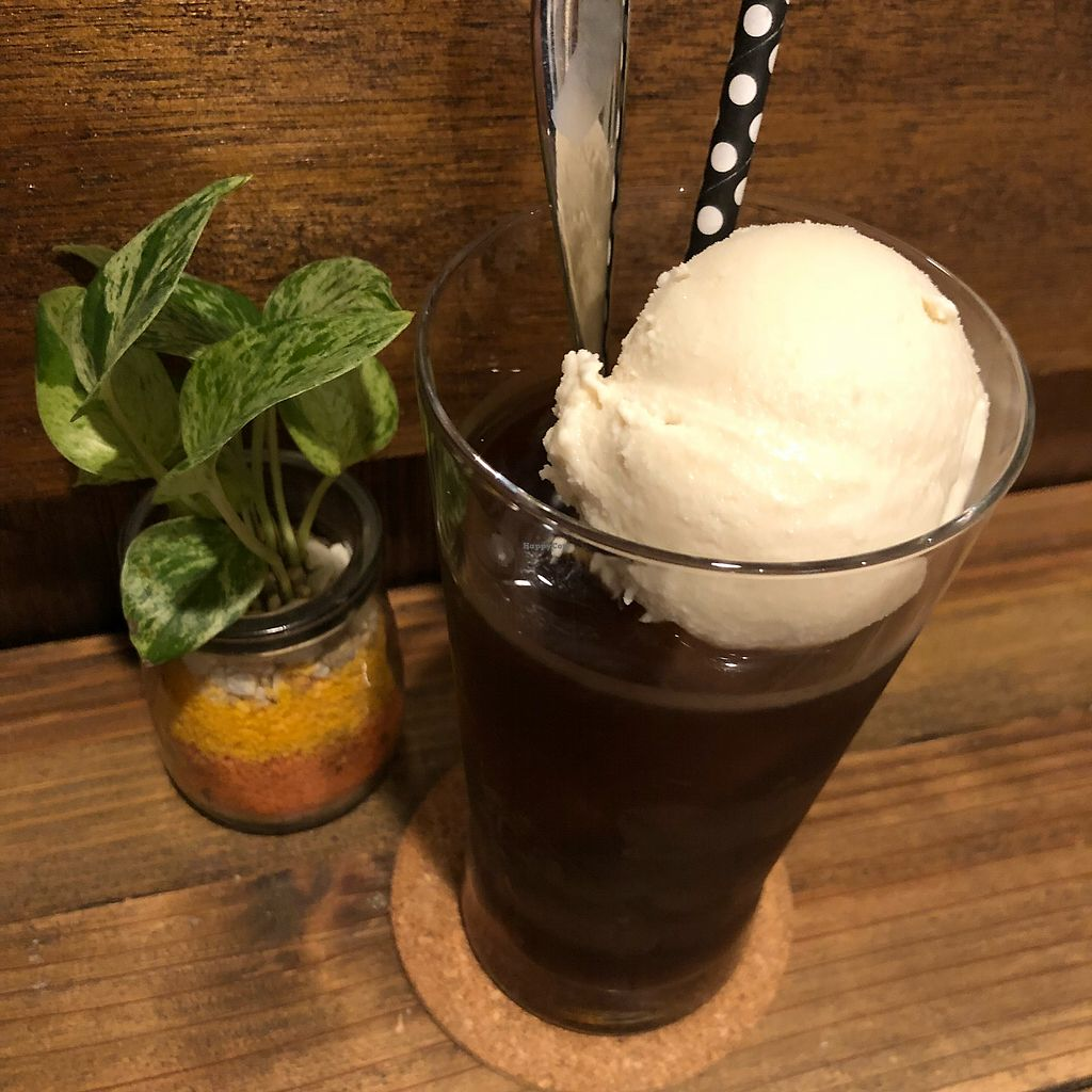 """Photo of Vegi Kitchen Gu Gu  by <a href=""""/members/profile/SimonJohnson"""">SimonJohnson</a> <br/>Ice coffee with soy ice cream  <br/> March 22, 2018  - <a href='/contact/abuse/image/95858/374126'>Report</a>"""