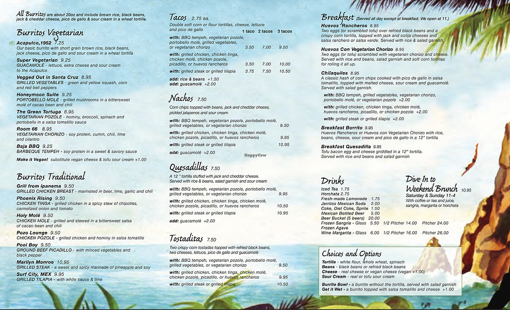 """Photo of Hotel Tortuga  by <a href=""""/members/profile/VeganDeron"""">VeganDeron</a> <br/>Menu - Page 2 <br/> July 10, 2017  - <a href='/contact/abuse/image/95878/278737'>Report</a>"""