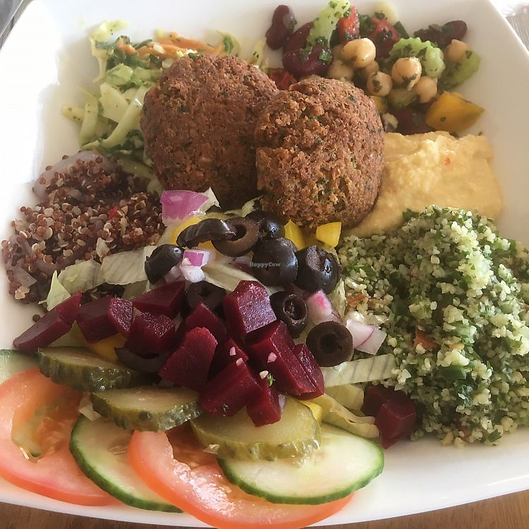 """Photo of Envy Vegetarian Eatery  by <a href=""""/members/profile/jjpink34"""">jjpink34</a> <br/>gourmet salad with falafel <br/> August 15, 2017  - <a href='/contact/abuse/image/95898/293004'>Report</a>"""