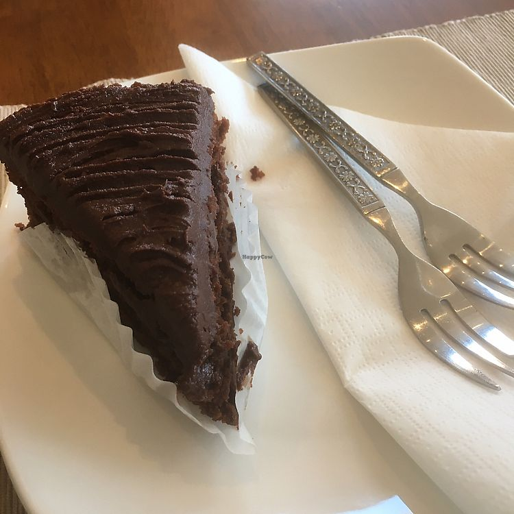 """Photo of Envy Vegetarian Eatery  by <a href=""""/members/profile/jjpink34"""">jjpink34</a> <br/>divine vegan chocolate cake (was like chocolate fudge cake)  <br/> August 15, 2017  - <a href='/contact/abuse/image/95898/293007'>Report</a>"""