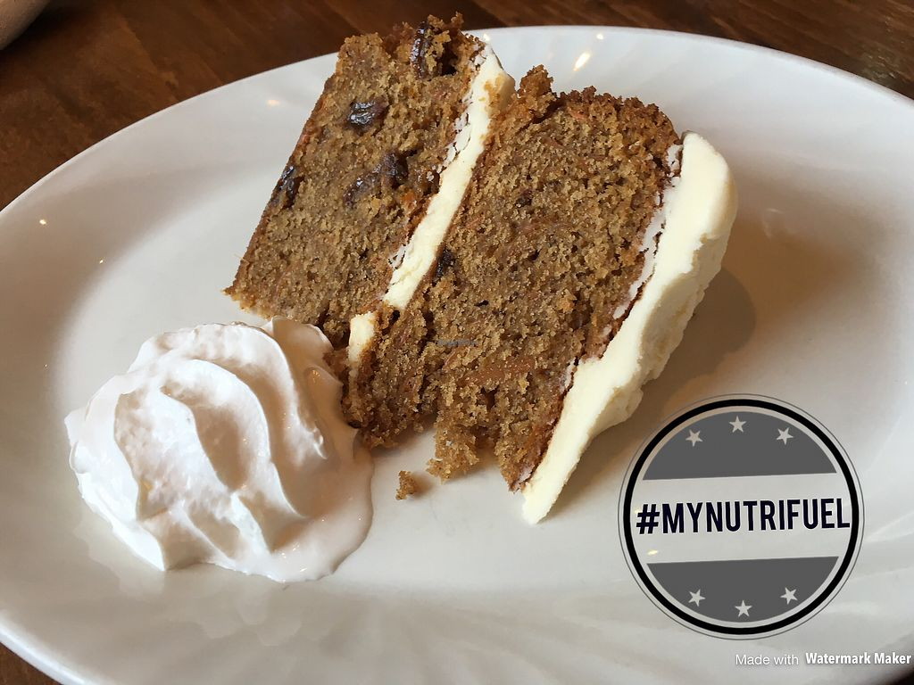 """Photo of The Dickens  by <a href=""""/members/profile/MyNutriFuel"""">MyNutriFuel</a> <br/>Vegan carrot cake you can eat in or take away ? #mynutrifuel <br/> July 12, 2017  - <a href='/contact/abuse/image/95902/279572'>Report</a>"""