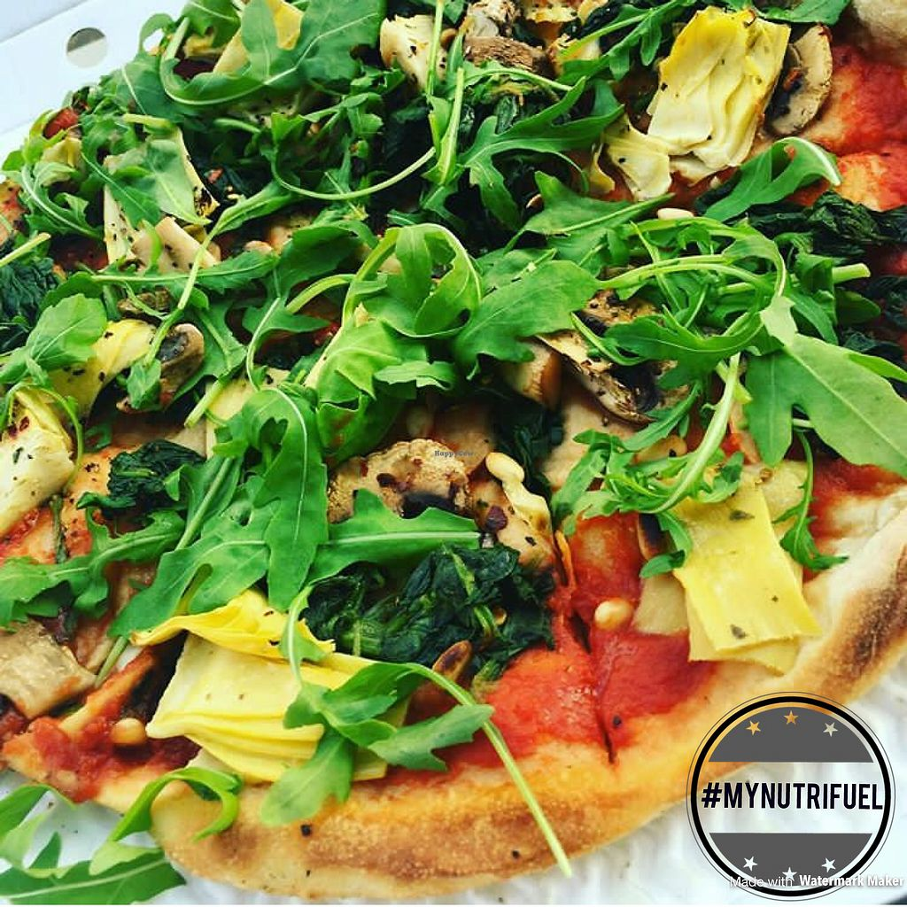 """Photo of Pizza Express  by <a href=""""/members/profile/MyNutriFuel"""">MyNutriFuel</a> <br/>Vegan pizza  #mynutrifuel <br/> July 10, 2017  - <a href='/contact/abuse/image/95908/278865'>Report</a>"""