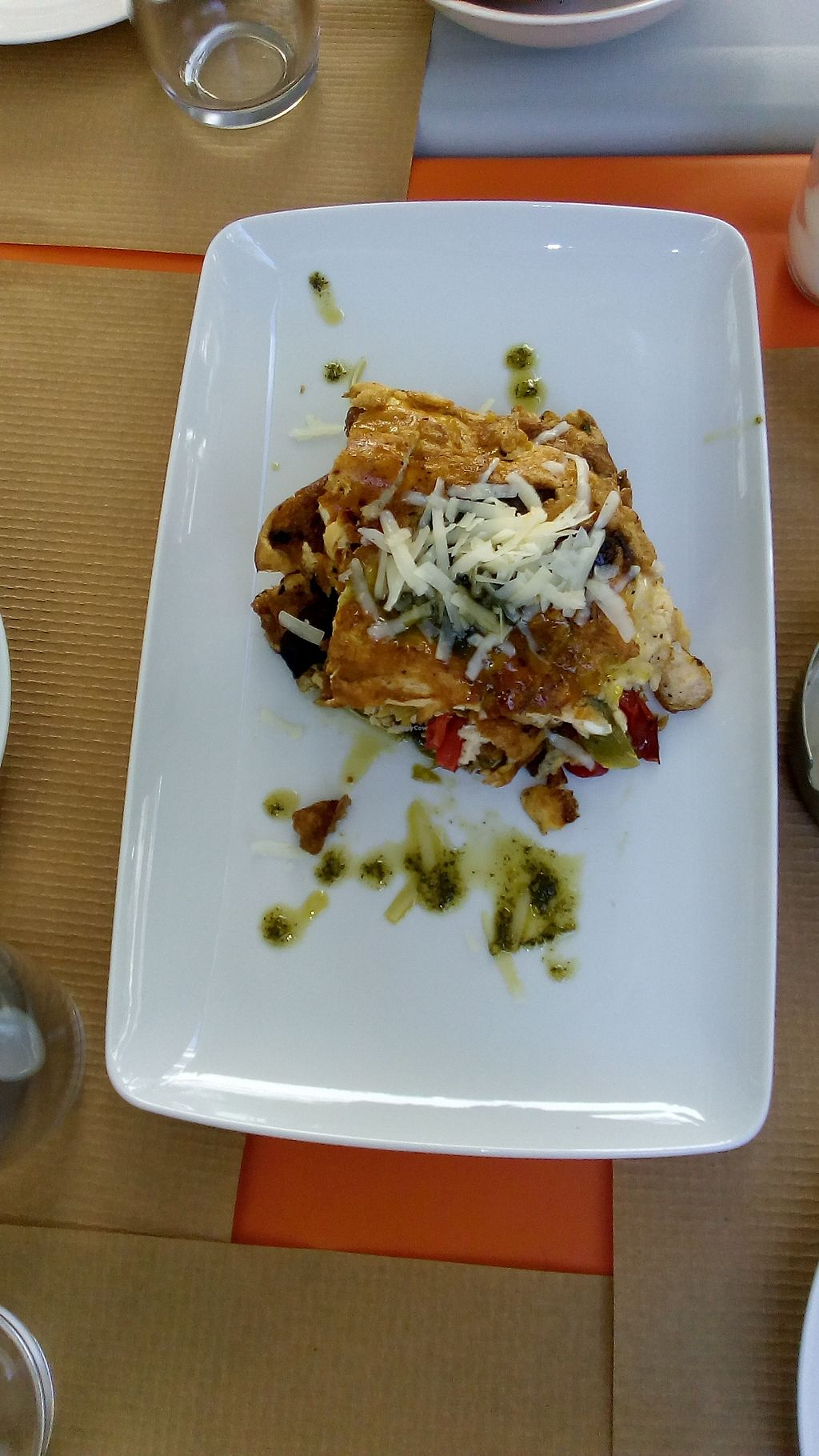 """Photo of Kardamon  by <a href=""""/members/profile/MariannaGiannakopoul"""">MariannaGiannakopoul</a> <br/>Omelette millefeuille with vegetables gruyere cheese and sage <br/> September 20, 2017  - <a href='/contact/abuse/image/95927/306357'>Report</a>"""