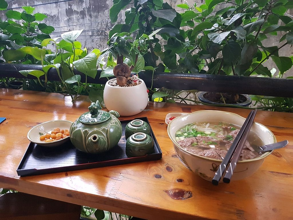 """Photo of Tinh Tam Tra  by <a href=""""/members/profile/Ongoloid"""">Ongoloid</a> <br/>Vegan Pho ❤ <br/> December 11, 2017  - <a href='/contact/abuse/image/95959/334586'>Report</a>"""