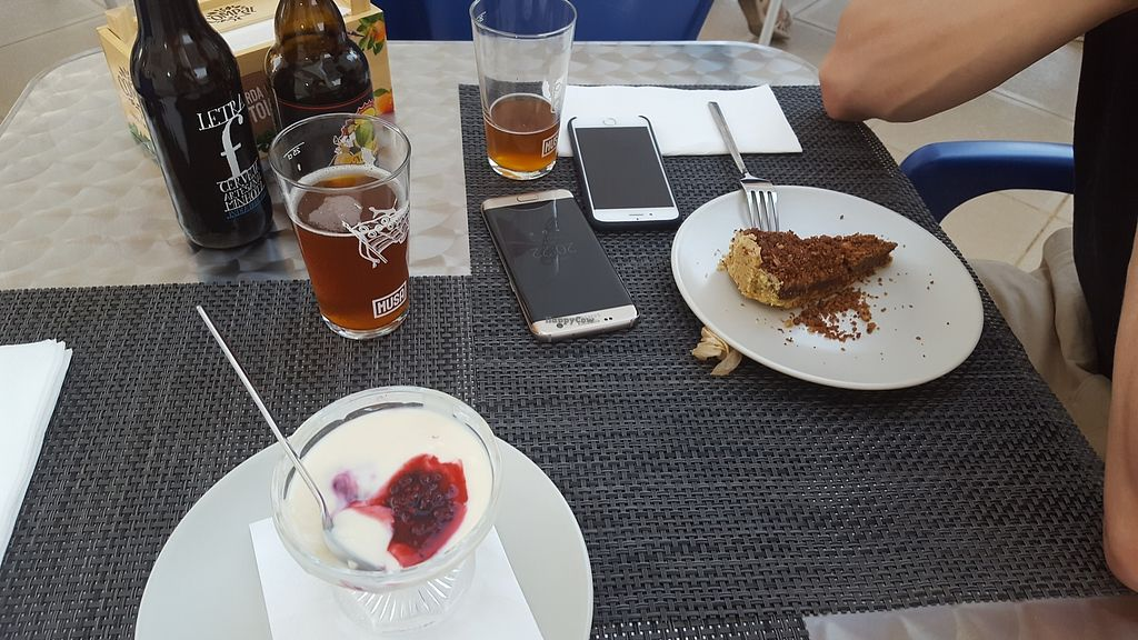 """Photo of Veggie Cafe  by <a href=""""/members/profile/SaraEllisson"""">SaraEllisson</a> <br/>Soy pudding and Fig cake <br/> July 15, 2017  - <a href='/contact/abuse/image/95965/280532'>Report</a>"""