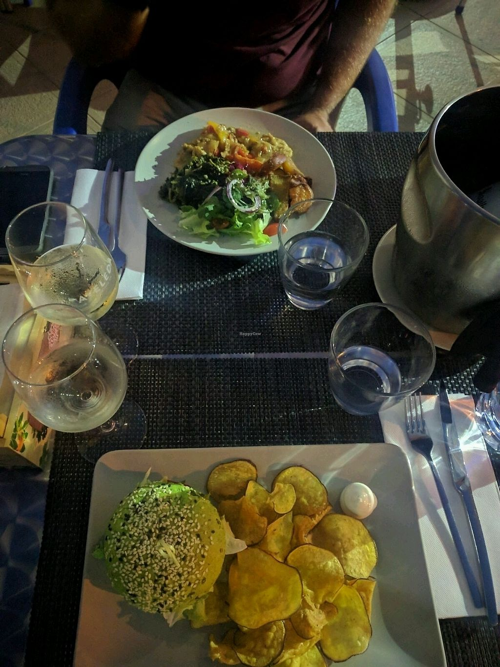 """Photo of Veggie Cafe  by <a href=""""/members/profile/MirceaP"""">MirceaP</a> <br/>Burger and seitan <br/> September 2, 2017  - <a href='/contact/abuse/image/95965/299936'>Report</a>"""